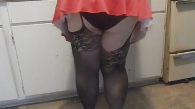 black panties ass wigle